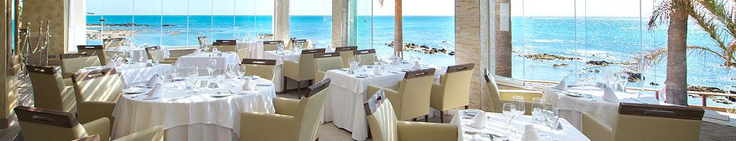 El Oceano restaurante entre Marbella y La Cala de Mijas, en la Costa del Sol, Espana