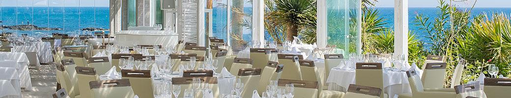 Sunday at El Oceano Hotel and Restaurant between Marbella and La Cala de Mijas, Spain