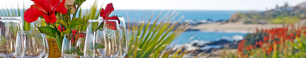 The Beachfront Terrace at El Oceano Hotel and Restaurant between Marbella and La Cala de Mijas