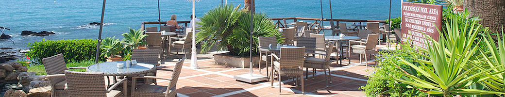 The Garden and Terrace at El Oceano Beachfront Hotel on Mijas Costa