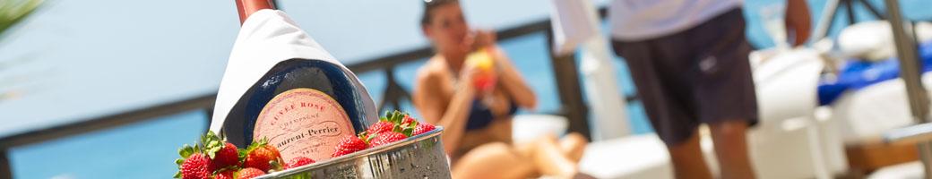 The VIP Sun Deck at el Oceano Hotel and Restaurant on Mijas Costa, between Marbella and La Cala de Mijas