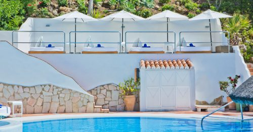 VIP Sun Bed Loungers at El Oceano Hotel on Spain's Costa del Sol