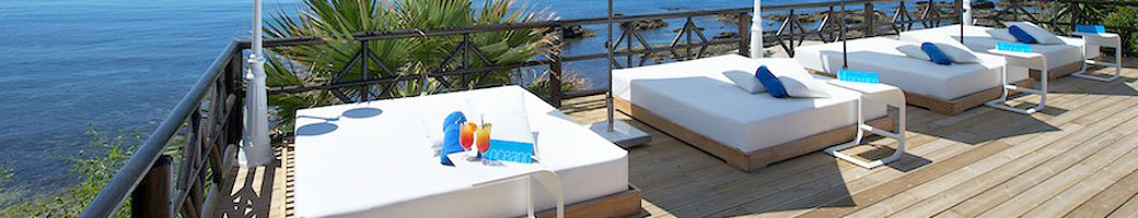 Your Private Lounger Bed on the VIP Sundeck at El Oceano Hotel on Mijas Costa